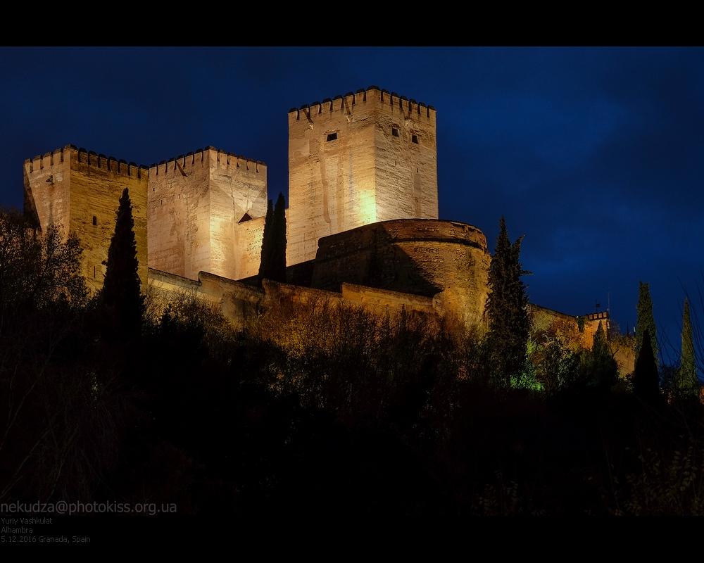 Альгамбра вечером