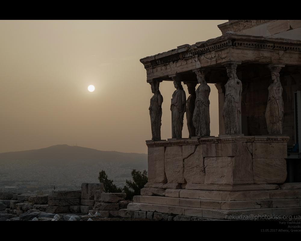 Афинский акрополь в пыльную бурю