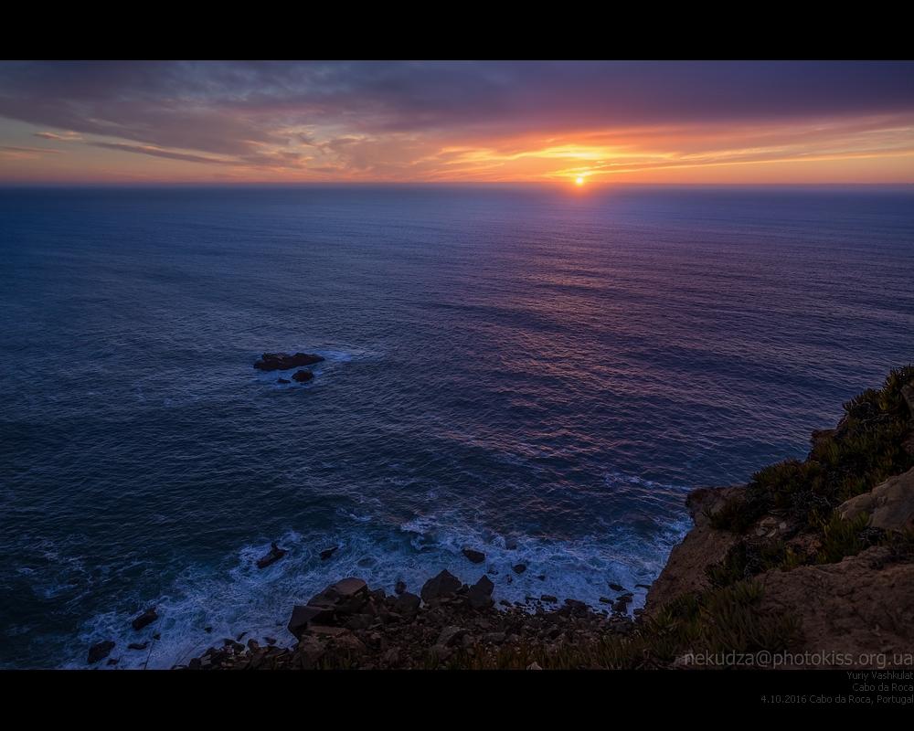 Закат над Атлантическим океаном