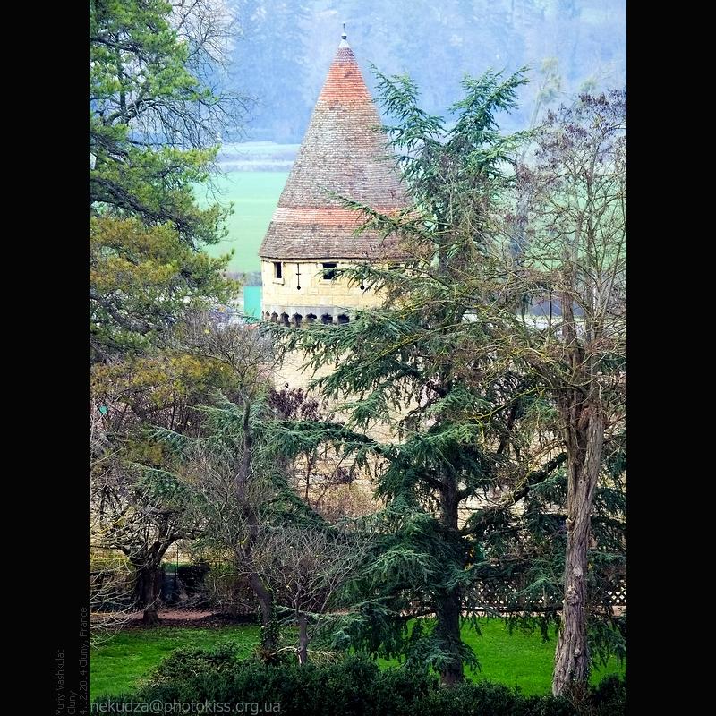 Вид на Клюни с Käse-Turm