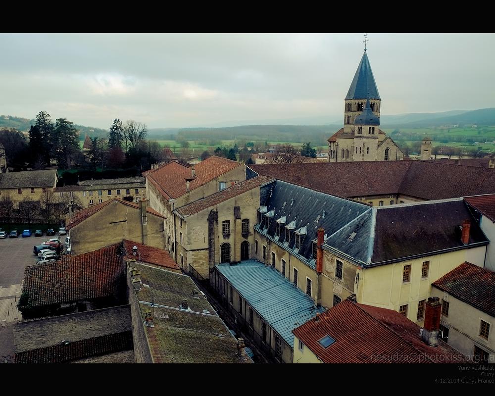 Вид на аббатство Клюни с Käse-Turm
