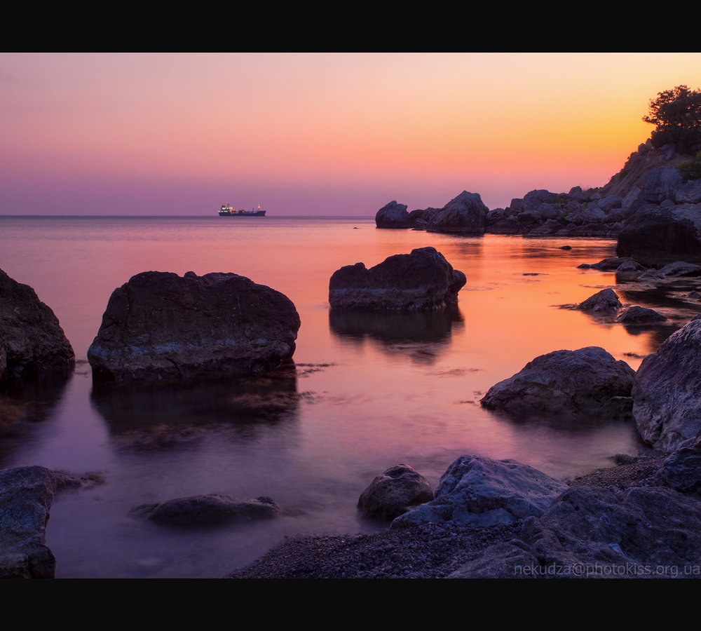 Фотографии Крыма. Закат в бухте Ласпи