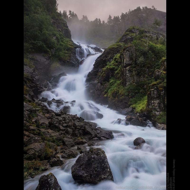 Водопады в Норвегии. Латефоссен