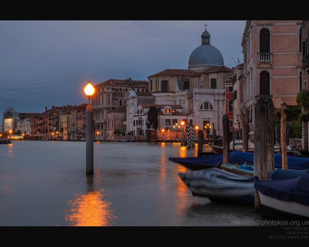 Фотографии Венеции. Гранд канал вечером