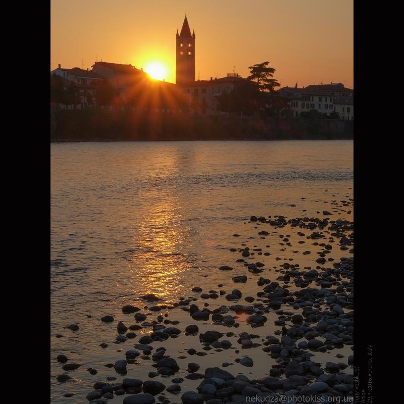 Адидже и колокольня Сан-Зено