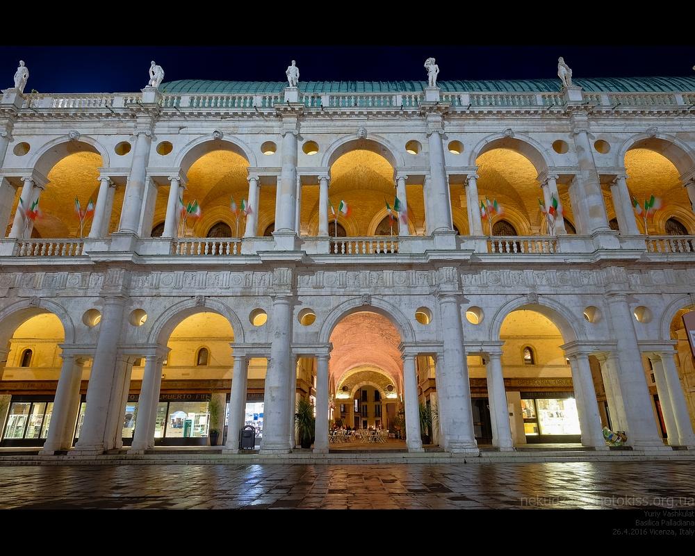 Вечерняя Виченца. Палладианская Базилика