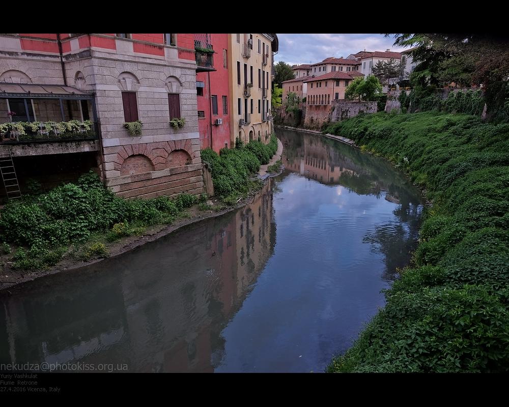 Река Ретроне в Виченце