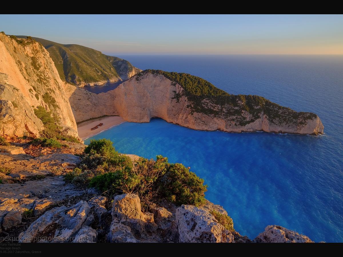 Греция, остров Закинф, бухта Навайо